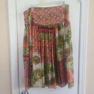 Boho multi colored Skirt